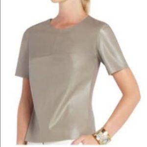 BCBGMaxAzria 'Tulum' faux tan leather top